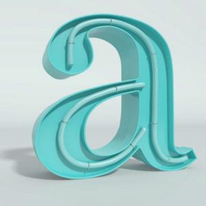 Lettres creuses en alu blanc ou couleur