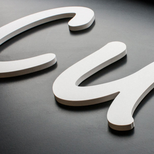 Lettres en PVC 10mm blanc ou couleur